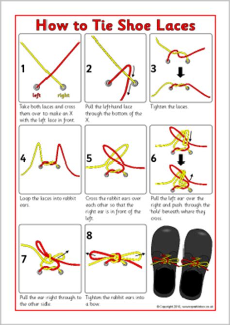 printable directions how to tie a tie how to tie shoe laces instructions sheet sb3623 sparklebox