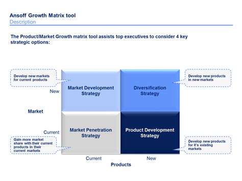 download now an ansoff matrix template by ex mckinsey