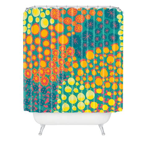Bright Shower Curtains Alegra Bright Shower Curtain By Deny Designs