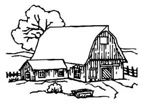 Farmers Barn Coloring Pages  Day IKids sketch template