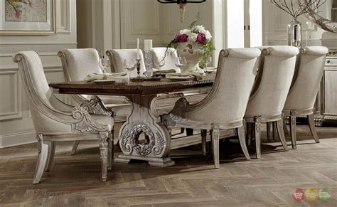 white dining room sets formal orleans ii white wash traditional formal dining room