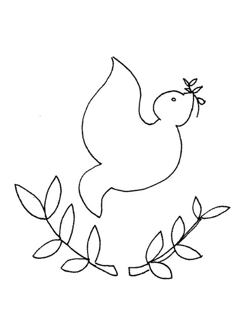 Free Coloring Pages Peace Dove Coloring Page