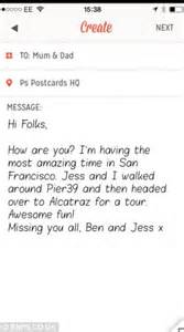 ps postcards app lets you send postcard without going near letterbox daily mail