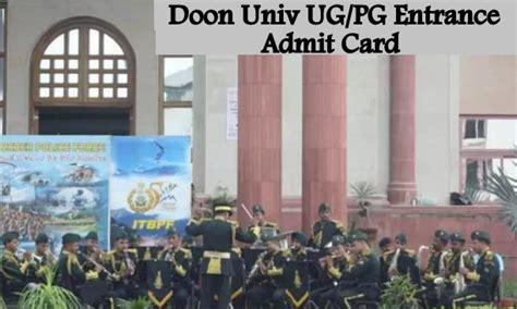 Bu Part Time Mba Application Deadline by Doon Ug Pg Entrance Admit Card Board