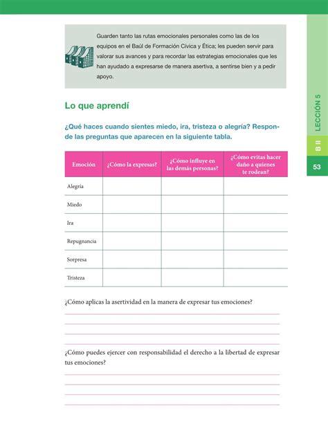 Sexto Formacin Cvica Y Tica14 Bloque 4 Derechos Y | libro de formacion civica de 5 grado contestado formaci