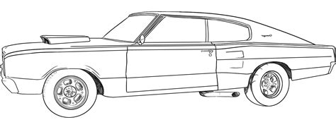 Dodge Challenger Coloring Page Only Coloring Pages » Ideas Home Design