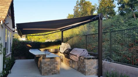 bbq awning retractable awning over a bbq island the awning company