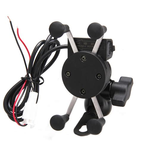 universal adjustable usb motorcycle bike mount holder