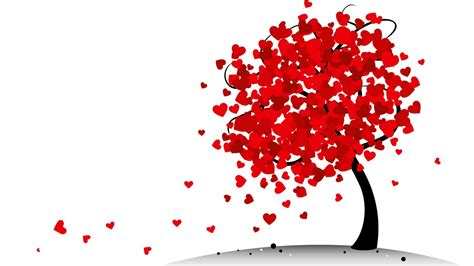 red heart tree wallpapers red heart tree stock