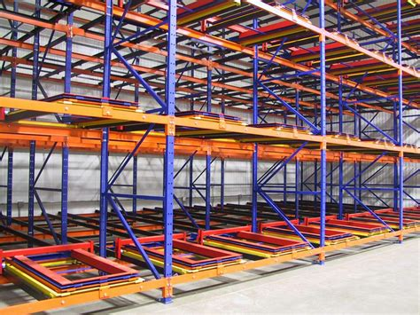push back racking pallet racking avanta uk
