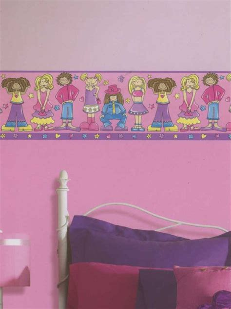 wallpaper borders for girls bedroom 44 best images about kids walls on pinterest disney