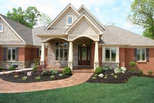 Houses craftsman house plans design colors to brick house soft