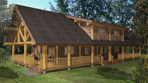 Small Log Cabins Floor Plans Nass Valley Duplex Log Home Plans 2192sqft Streamline