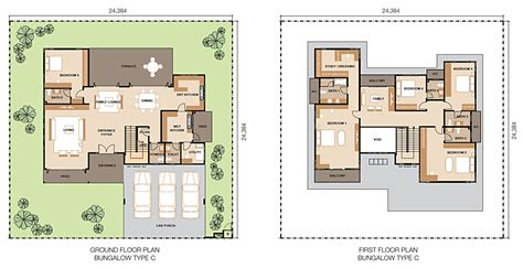 floor plan bungalow type global oriental berhad