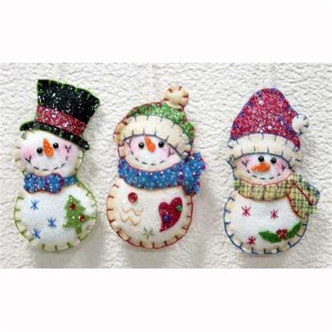 printable snowman ornaments 5 quot stitched santa snowman felt ornament buy felt