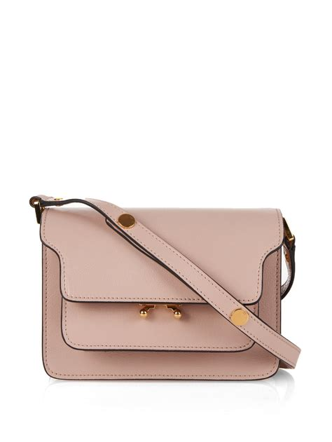 Channel Carlo Bag lyst marni trunk mini leather shoulder bag in pink