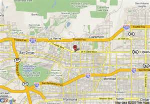map pomona california map of rodeway inn and suites pomona pomona