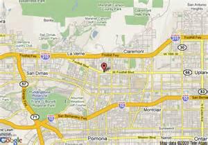 map of rodeway inn and suites pomona pomona