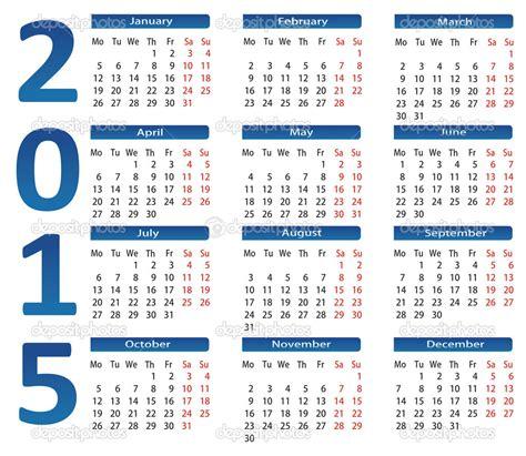Calendar Usa 2015 Calendario 2015 Tascabile Da Scaricare