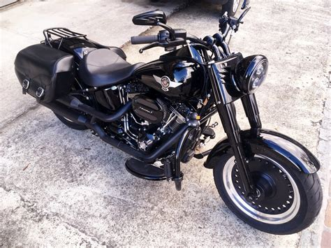 Motorrad Lackieren Aargau by Harley Davidson Fat Boy Quot Glossy Black Quot Man Nastybike