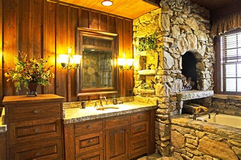 lodge bathroom luxury mountain lodge rustic bathroom other metro