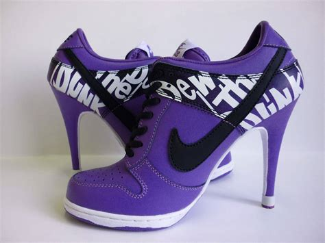 nike sneaker high heels purple nike dunk heels shoes picture