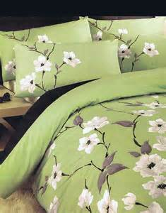 green single duvet cover chichi floral flowers olive green single bed size duvet
