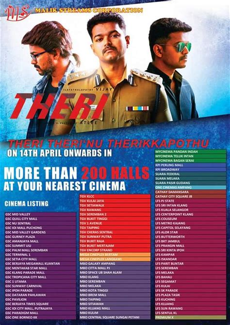 film malaysia list theri malaysia theater list tamil movie music reviews and