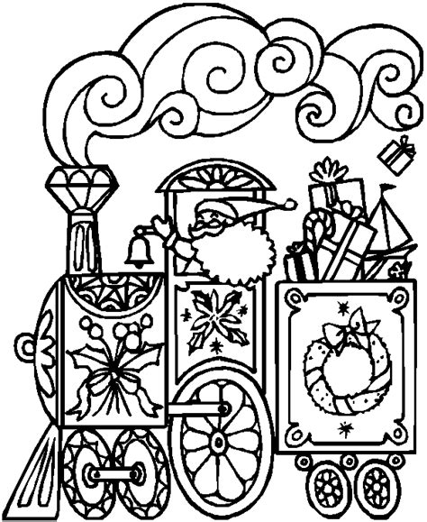 coloring pages christmas train little toy trains christmas coloring page