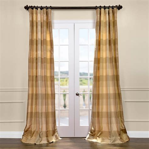 silk drape newman silk taffeta plaid curtains drapes