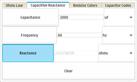 reactance of capacitor calculator capacitive reactance frequency calculator 28 images unph30 1 order and second order passive