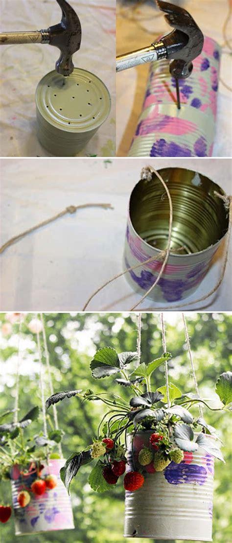 creative diy ideas  growing strawberries  small