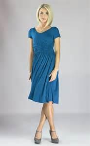 Modest dresses lilian dress in blue sapphire this soft blue