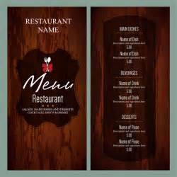 restaurant menu card templates vintage restaurant menu templates free vector in adobe
