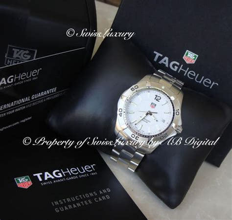 s watches tag heuer aquaracer wab110 swiss 300m white certified w serial box and