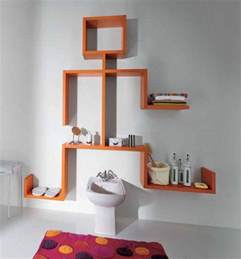 unique wall mounted shelves orange high gloss color with shape furniture adding shelving units modern small