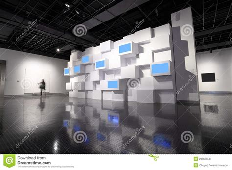 wall in a exhibition room stock photo image 24003778
