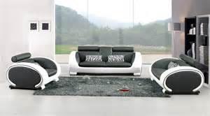 canape noir blanc