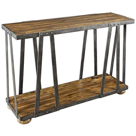 rustic wood console table ida rustic lodge acacia wood metal console table kathy