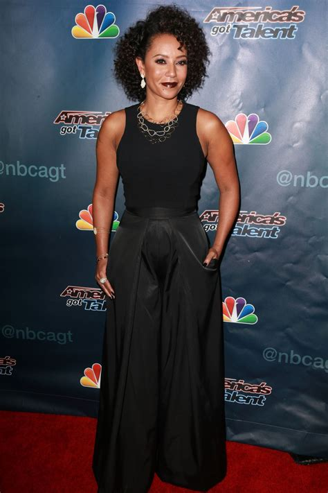 Catwalk To Carpet Melanie Brown In Rm By Roland Mouret by Melanie Brown At America S Got Talent Post Show Carpet