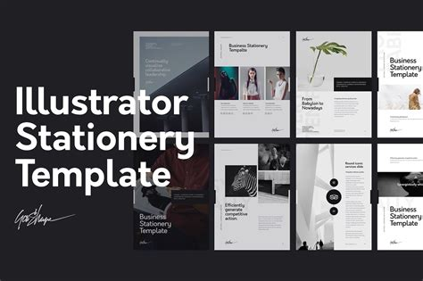 Illustrator Stationery Template On Behance Stationery Template Illustrator