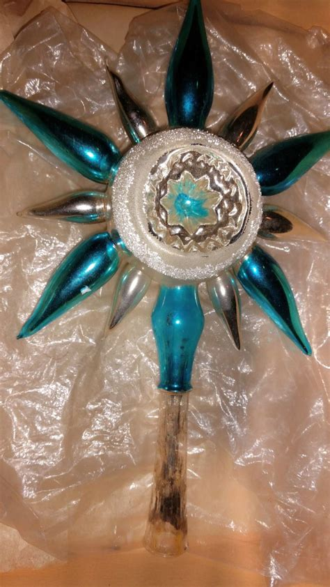 mercury glass christmas tree and teal best 741 vintage tree toppers images on other vintage ornaments