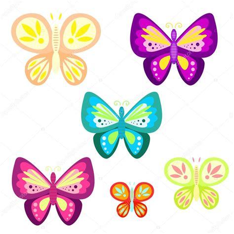 imagenes animadas de mariposas volando vector ilustraci 243 n de dibujos animados conjunto de