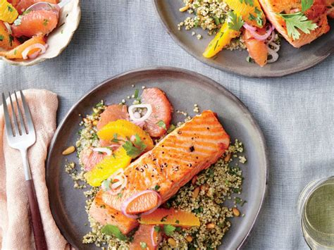 salmon buffet recipes saut 233 ed salmon with citrus salsa recipe cooking light