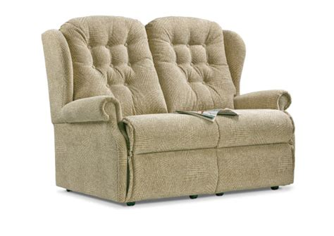 small two seater settees lynton small fabric fixed 2 seater settee sherborne