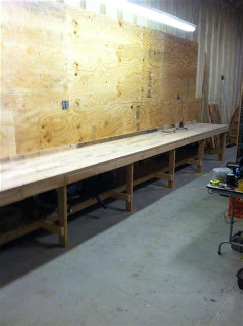 pallet work bench diy pallet workbench
