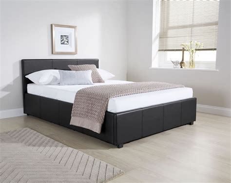 side ottoman bed ottoman side lift bedstead gas lift storage bed faux