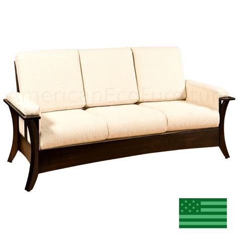 Couches Made In Usa by Amish Corsica Sofa Solid Wood Made In Usa American