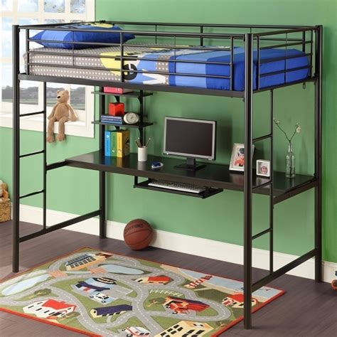 king size loft bed with desk size metal loft bed with desk bed headboards