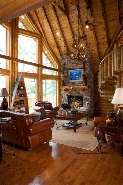 home design elements llc log home caldwell traditional living room other